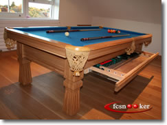 Welcome to fcsnooker newly manufactured slate bed for Oak beauty pool table
